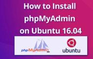 Install phpMyAdmin on Ubuntu 16.04