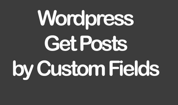 Wordpress Get Posts by Custom Fields