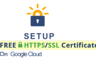 Setup Free SSL Certificate on Google Cloud Server
