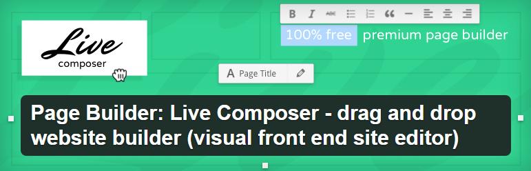 live composer page bulder