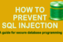 SQL Injection Prevention