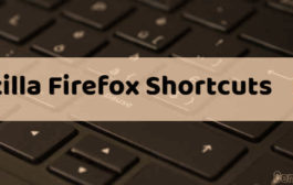 Keyboard Shortcuts in Mozilla Firefox