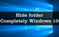 Hide folder Completely Windows 10