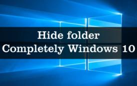 Hide folder Completely Windows 10
